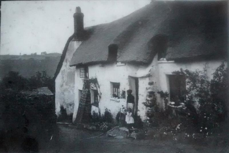 Old photo of Bickleigh cottage
